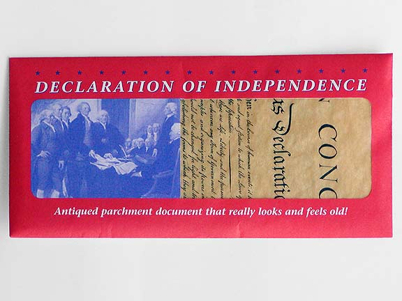 Declaration of Independence Replica Document