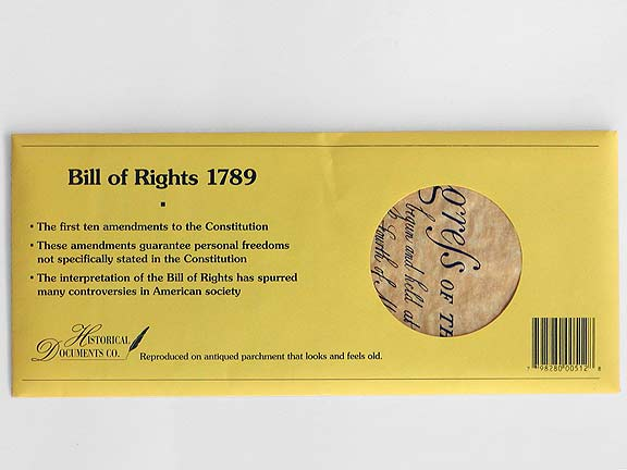 Bill of Rights, Historical Document